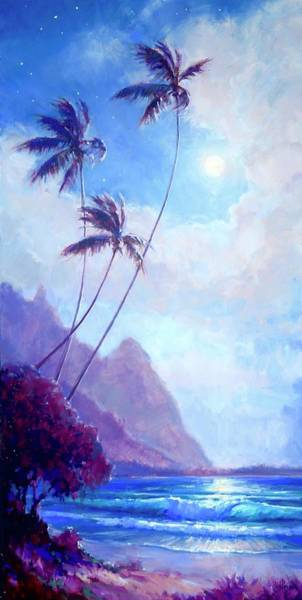 Wall Art - Painting - Kauaimoon  by Jenifer Prince