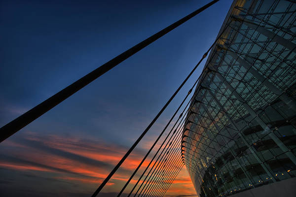 Crossroads Photograph - Kauffman Center Cabled by Thomas Zimmerman