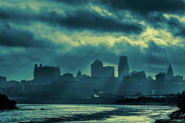 Photograph - Kaw Point Kansas City Skyline by Jeff Phillippi