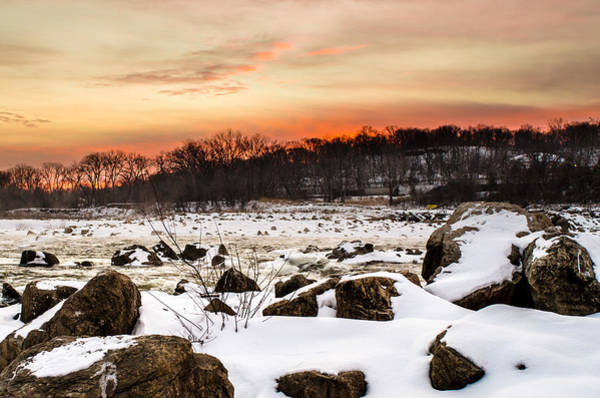 Photograph - Kaw River Icy Sunrise  by Jeff Phillippi