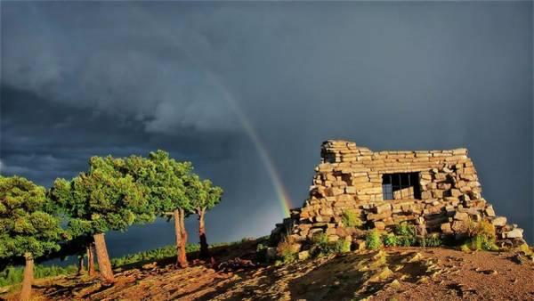 Photograph - Kawanis Cabin Rainbow, Sandia Crest, New Mexico by Flying Z Photography by Zayne Diamond
