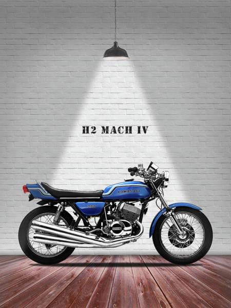 Mark Iv Wall Art - Photograph - Kawasaki H2 Mach Iv by Mark Rogan