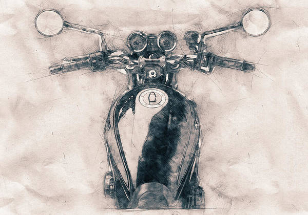 Wall Art - Mixed Media - Kawasaki Z1 - Kawasaki Motorcycles - 1972 - Motorcycle Poster - Automotive Art by Studio Grafiikka