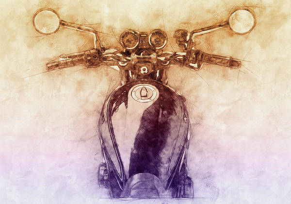 Wall Art - Mixed Media - Kawasaki Z1 - Kawasaki Motorcycles 2 - 1972 - Motorcycle Poster - Automotive Art by Studio Grafiikka