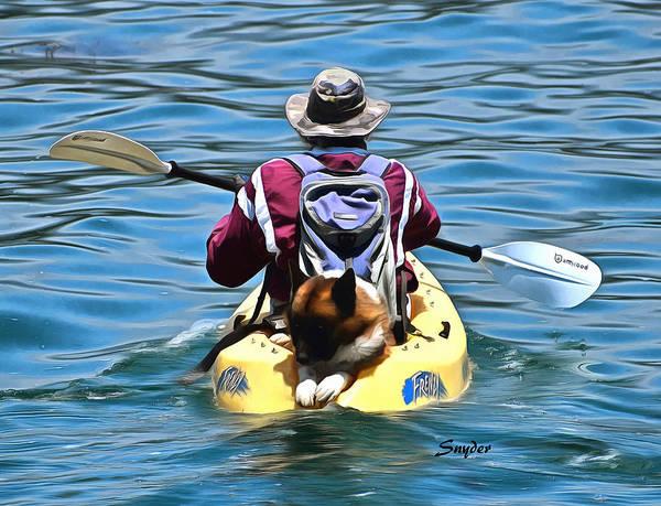 Photograph - Kayak Dog Santa Barbara Detail by Floyd Snyder