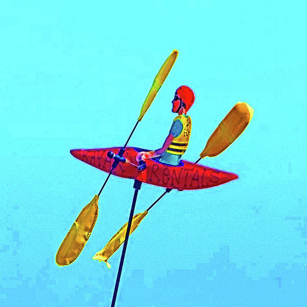 Photograph - Kayak Guy On A Stick by Joseph Coulombe