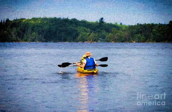 Photograph - Kayak Paddling In Algonquin Park by Les Palenik