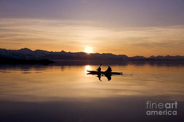 Expanse Photograph - Kayak Silhouettes I by John Hyde - Printscapes