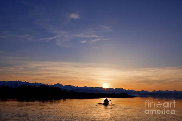 Expanse Photograph - Kayak Silhouettes II by John Hyde - Printscapes