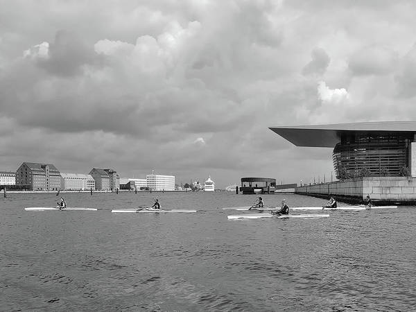 Photograph - Kayakers And The Copenhagen Opera House by Digital Photographic Arts