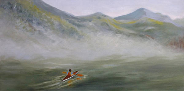 Painting - Kayaking Through The Fog by Joanne Smoley
