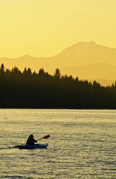 Kayaking Lake Almanor Art Print