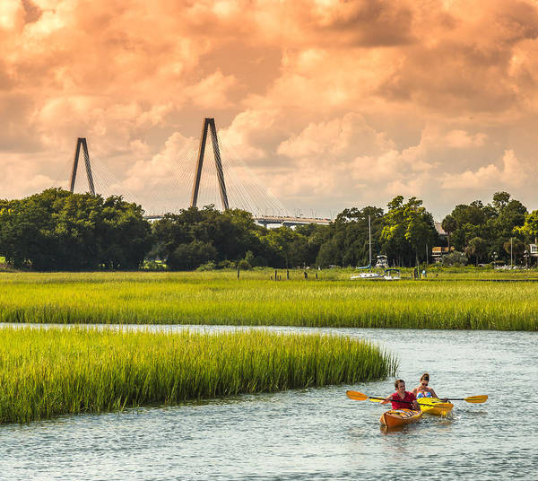 Photograph - Kayaking On The Creek - Mt. Pleasant Sc by Donnie Whitaker