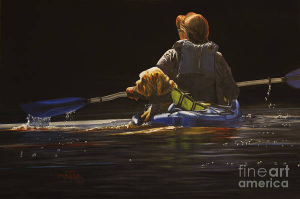 Painting - Kayaking With Your Best Friend by Laurie Tietjen
