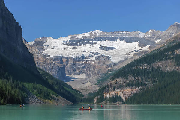 Photograph - Kayaks On Lake Louise Canada by Terry DeLuco