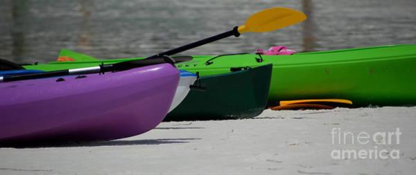 Grayton Beach State Park Photograph - Kayaks On The Beach by Jan Prewett