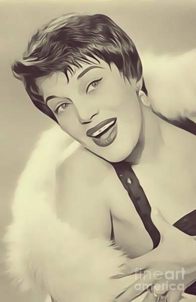 Ballard Wall Art - Digital Art - Kaye Ballard, Vintage Actress by John Springfield