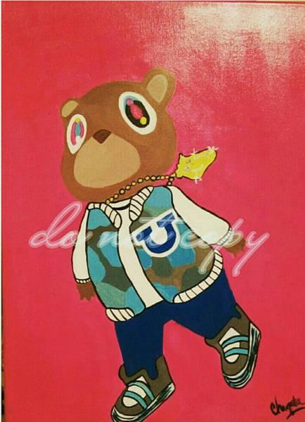 Wall Art - Painting - Kayne Yeezy Bear Inspiration  by Chiquita Howard