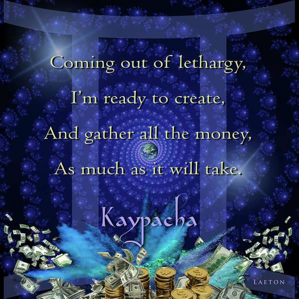 Digital Art - Kaypacha June 8, 2016 by Richard Laeton