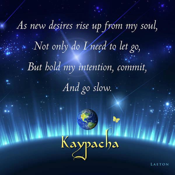 Digital Art - Kaypacha - March 7, 2017 by Richard Laeton