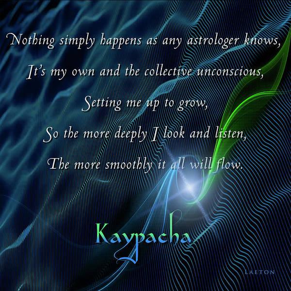 Digital Art - Kaypacha - November 22, 2017 by Richard Laeton