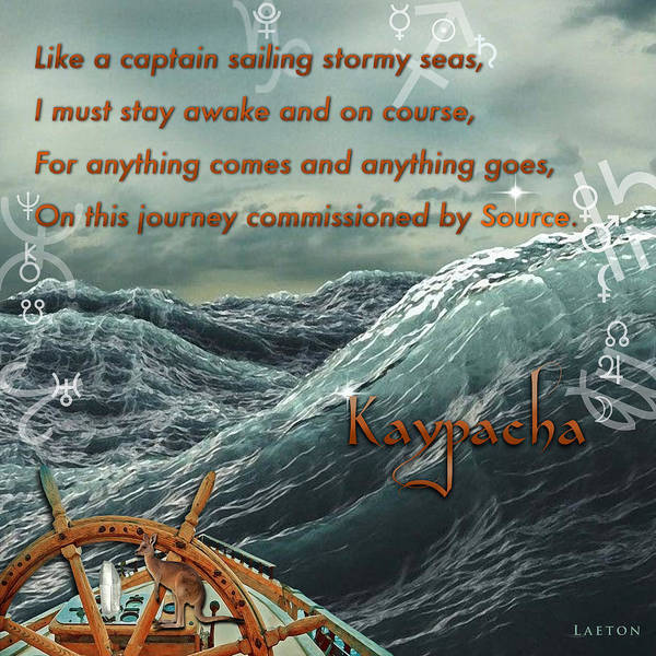 Mixed Media - Kaypacha's Mantra 12.3.2015 by Richard Laeton