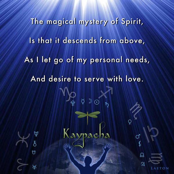 Mixed Media - Kaypacha's Mantra 12.9.2015 by Richard Laeton