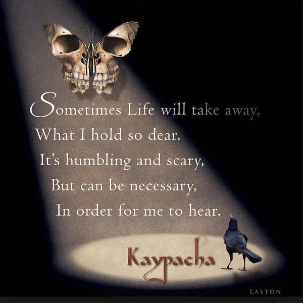 Mixed Media - Kaypacha's Mantra 2.10.2016 by Richard Laeton