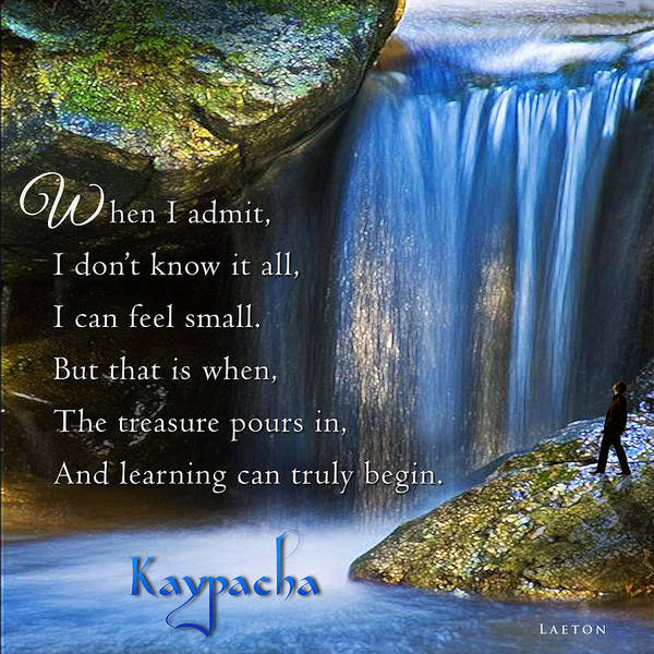 Mixed Media - Kaypacha's Mantra 2.17.2016 by Richard Laeton
