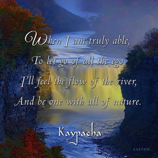 Mixed Media - Kaypacha's Mantra 3.2.2016 by Richard Laeton