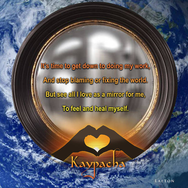 Mixed Media - Kaypacha's Mantra 3.23.2016 by Richard Laeton