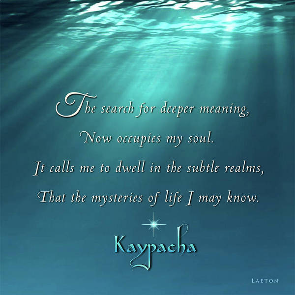 Mixed Media - Kaypacha's Mantra 4.27.2016 by Richard Laeton