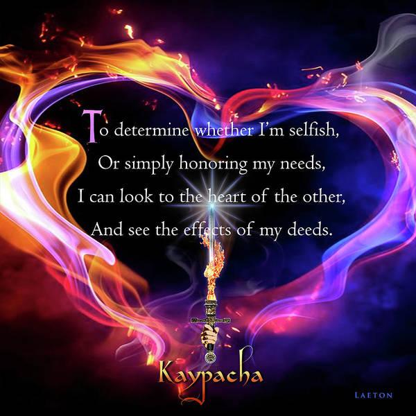 Digital Art - Kaypacha's Mantra 5.4.2016 by Richard Laeton