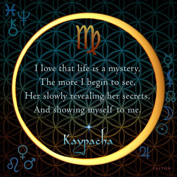 Eclipse Mixed Media - Kaypacha's Mantra 9.8.2015 by Richard Laeton