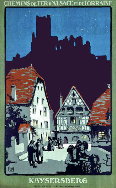 Alsace Wall Art - Painting - Kayserberg, City, Alsace, France,  by Long Shot