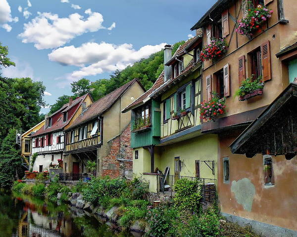 Photograph - Kaysersberg Residential Scene by Anthony Dezenzio