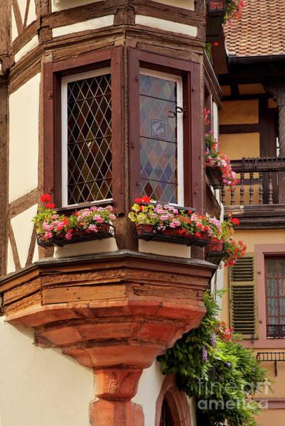 Photograph - Kaysersberg Window by Brian Jannsen