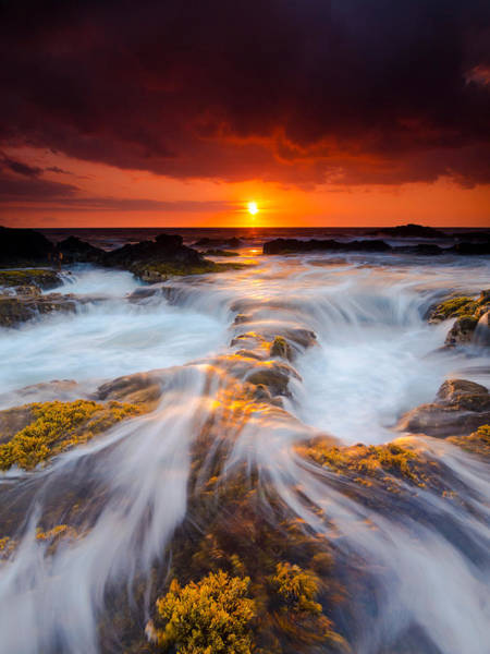 Photograph - Keahole Point Sunset by Christopher Johnson