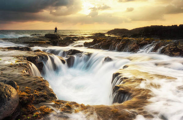 Photograph - Keahole Sunset  by Christopher Johnson