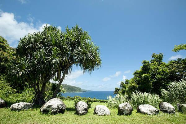 Photograph - Keanae Mahama Lauhala And The Pacific Ocean Nuaailua Bay Mokuholua Maui Hawaii by Sharon Mau