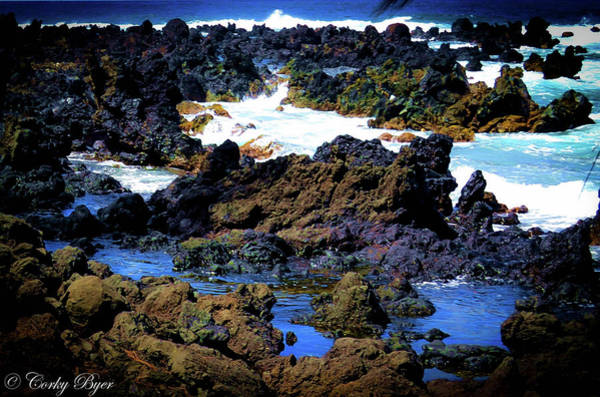 Wall Art - Photograph - Keanae Tide Pools Maui by Corky Byer