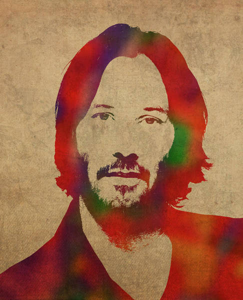 Wall Art - Mixed Media - Keanu Reeves Watercolor Portrait by Design Turnpike