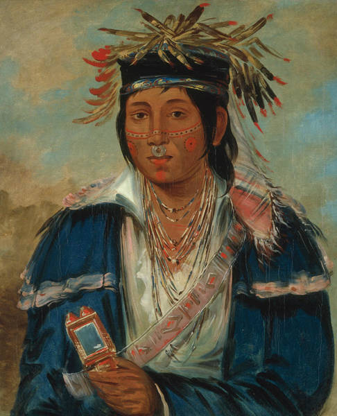 Painting - Kee-mo-ra-nia, No English, A Dandy by George Catlin