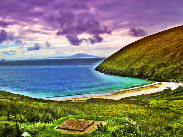Gaelic Photograph - Keem Bay - Ireland by Bill Cannon