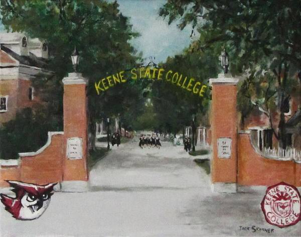 Wall Art - Painting - Keene State College by Jack Skinner