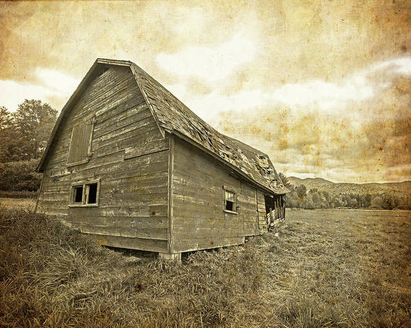 Photograph - Keene Valley Delapitated Barn Vintage Style by Toby McGuire
