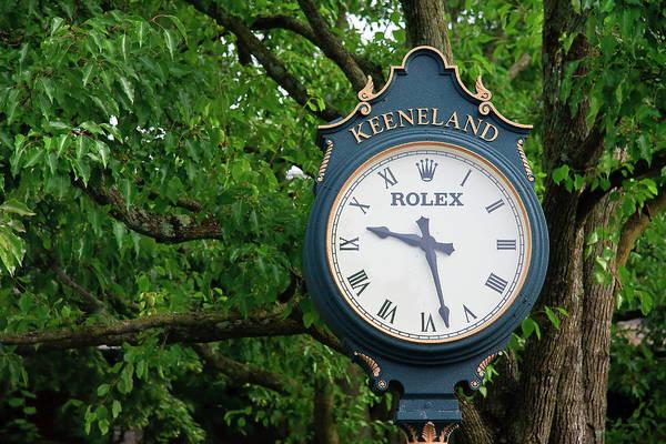 Photograph - Keeneland Clock by Jill Lang