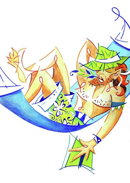 Wall Art - Painting - Keep Calm And Enjoy Life - Summer Holiday Illustration by Arte Venezia