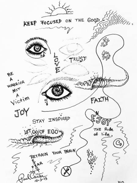 Drawing - Keep Focused  by Paul Carter