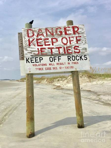 Photograph - Keep Off Jetties by Flavia Westerwelle